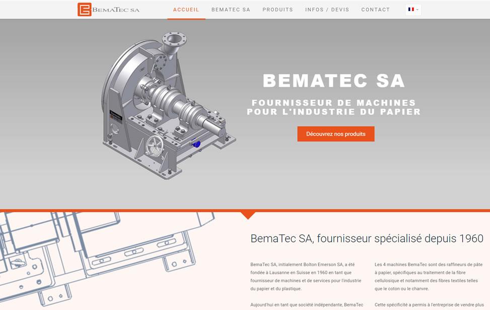 Bematec - Fournisseur de machines pour l'industrie du Papier